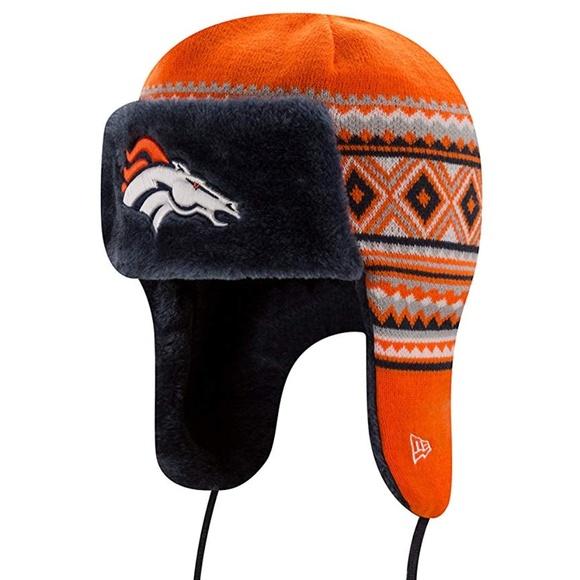 0fe0e29c377de Denver Broncos NFL Festive Trapper Hat Unisex. NWT. New Era